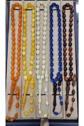 Öyküm accesory 5 Adet Imame Işlemeli Toz Kehribar 0