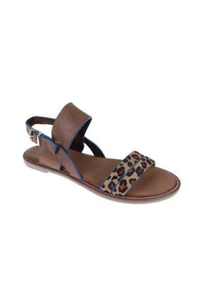 SHALİN Kadın Kahve Deri Sandalet 1