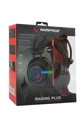 Rampage Rm-k19 Ragıng Plus Siyah Usb 7,1 Version Rgb Ledli Gaming Oyuncu Mikrofonlu Kulaklık 4