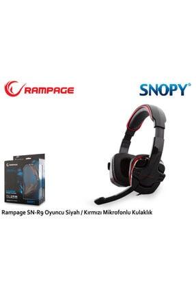 Snopy Rampage Sn-r9 Oyuncu Siyah/Kırmızı Mikrofonlu Kulaklık 1
