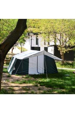 TUNÇ KAMP ÇADIRI Aile Tipi 2 Oda 1 Salon 8-10 Kişilik Kamp Çadırı - Yeşil 2