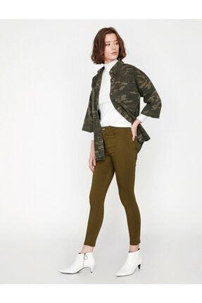 Koton Kadın Yeşil Pantolon 1