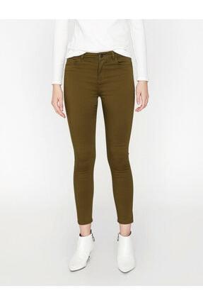 Koton Kadın Yeşil Pantolon 2
