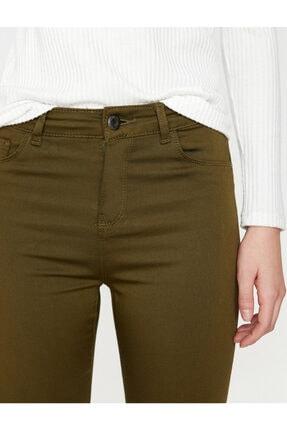 Koton Kadın Yeşil Pantolon 4