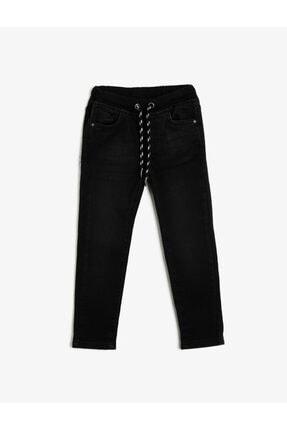 Koton Erkek Çocuk Siyah Beli Baglamalı Jean Pantolon 0