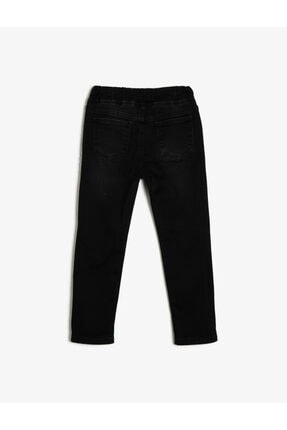 Koton Erkek Çocuk Siyah Beli Baglamalı Jean Pantolon 1