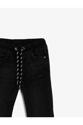 Koton Erkek Çocuk Siyah Beli Baglamalı Jean Pantolon 2