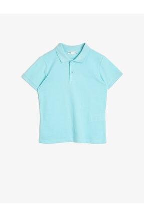 Koton Erkek Çocuk Mavi Polo Yaka T-Shirt 0