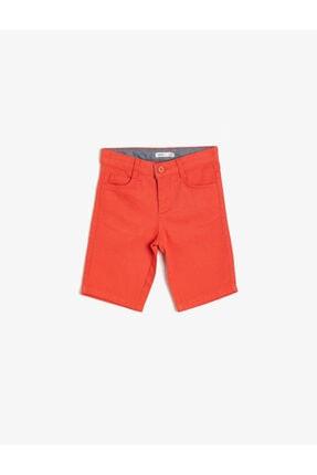 Koton Erkek Çocuk Kırmızı Cep Detayli Sort 1