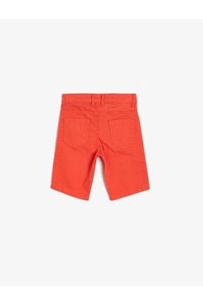 Koton Erkek Çocuk Kırmızı Cep Detayli Sort 2