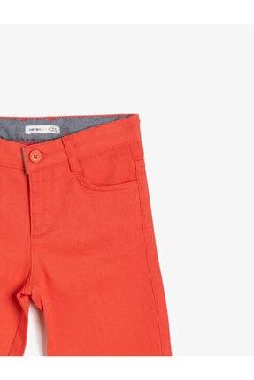 Koton Erkek Çocuk Kırmızı Cep Detayli Sort 3