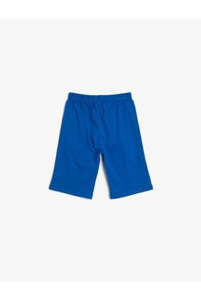 Koton Erkek Çocuk Mavi Baskılı Şort 1