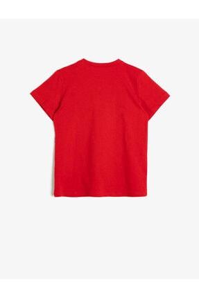 Koton Erkek Çocuk Kırmızı Yazili Baskili T-Shirt 1