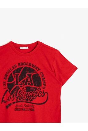 Koton Erkek Çocuk Kırmızı Yazili Baskili T-Shirt 2