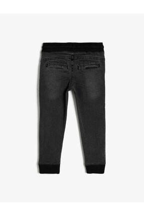 Koton Erkek Çocuk Basic Beli Ve Paçasi Ribanali Beli Kordonlu Jogger Jean Pantalon 1