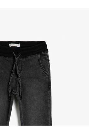 Koton Erkek Çocuk Basic Beli Ve Paçasi Ribanali Beli Kordonlu Jogger Jean Pantalon 2