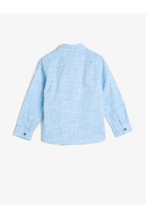 Koton Erkek Çocuk Kirçilli Kumastan Uzun Kollu Klasik Yaka Gömlek 1