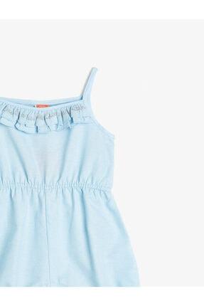 Koton Kız Çocuk Mavi Fırfır Detaylı Tulum 2