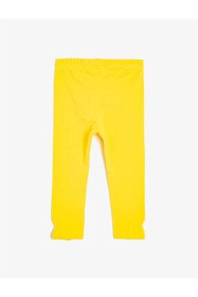 Koton Kız Çocuk Sarı Tayt 1