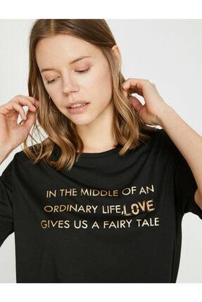 Koton Kadın Siyah T-Shirt 1