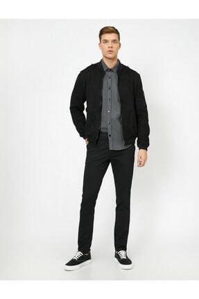 Koton Erkek Siyah Cep Detaylı Pantolon 0YAM42500BW 1