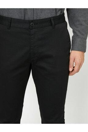 Koton Erkek Siyah Cep Detaylı Pantolon 0YAM42500BW 4