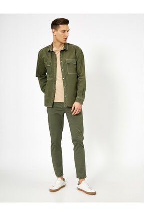 Koton Erkek Yeşil Cep Detayli Pantolon 0YAM42505BW 1