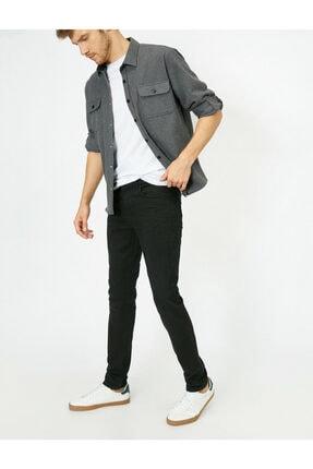 Koton Erkek Siyah Skinny Fit Jean Pantolon 0