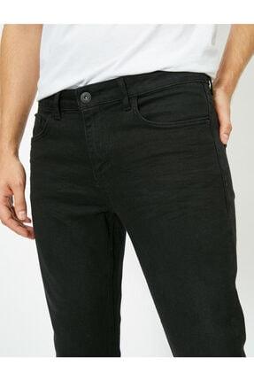 Koton Erkek Siyah Skinny Fit Jean Pantolon 4
