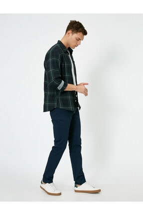 Koton Erkek Lacivert Cep Detayli Pantolon 0YAM42505BW 1
