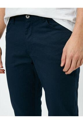 Koton Erkek Lacivert Cep Detayli Pantolon 0YAM42505BW 4
