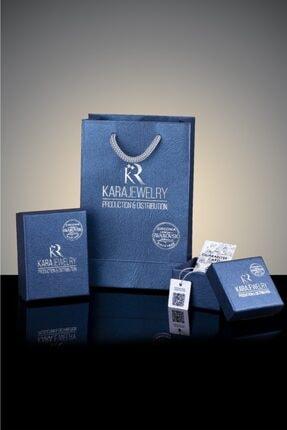 Kara Jewelry Gümüş Kolye Original Swarovskı Damla Taşlı Bayan Kolye 2