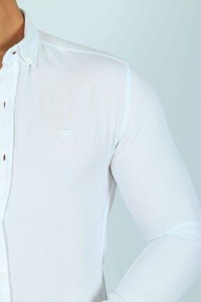 JİYAN Erkek Beyaz Gömlek 3