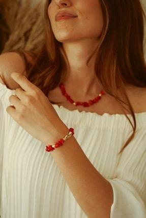 Linya Jewellery Kadın Kırmızı Mercan Bileklik 2