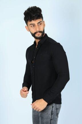 JİYAN Erkek Siyah Gömlek 1