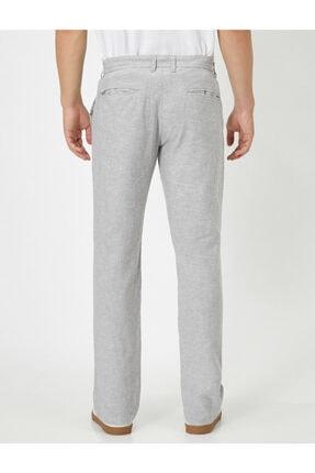 Koton Keten Karisimli Slim Fit Dokuma Pantolon 3