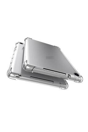 """Huawei Mediapad T5 10.1"""" Kılıf Anti Shock Köşe Korumalı Darbe Emici Şeffaf Silikon + Ekran Koruyucu 0"""