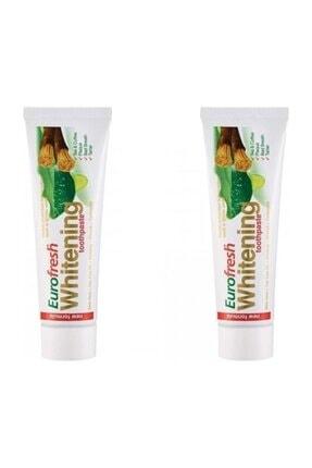 Farmasi 2 Adet Eurofresh Whitening Aloe Veralı Misvaklı Diş Macunu 112g 0