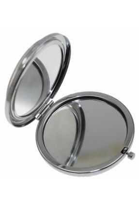 OTANTİK ÇİNİ Çamaşır Ipinde Cezalı Kedi Çanta Aynası 7x7 Cm Dir. 2