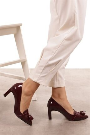 Mio Gusto Emma Bordo Rugan Topuklu Ayakkabı 2