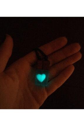 Atelier8 Karanlıkta Işık Veren Sevgili Çift Kalp Kolye 4