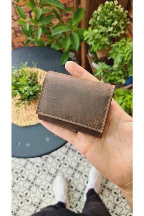 Visso leather Unisex Kahve Matrix Hakiki Deri Akordiyon Kartlık Çanta 660 2