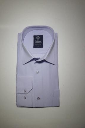 Özeniş Erkek Uzun Kollu Regular Fit Düz Renk Gömlek 0