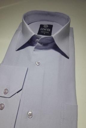 Özeniş Erkek Uzun Kollu Regular Fit Düz Renk Gömlek 1