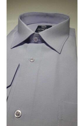 Özeniş Erkek Uzun Kollu Regular Fit Düz Renk Gömlek 2