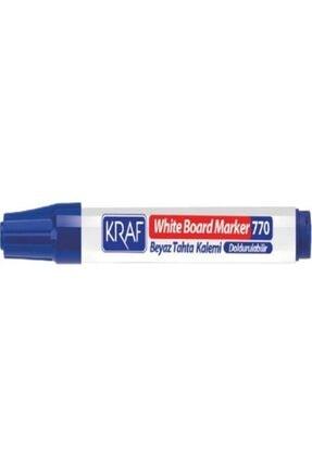 KRAF Beyaz Tahta Kalemi Doldurulabilir 770 Mavi 12'li Paket 0