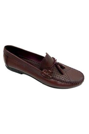 KİBPOLO Erkek Bordo Hakiki Deri Loafer Ayakkabı 3209 0