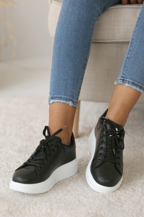 Pembe Potin Kadın Siyah Casual Ayakkabı 0