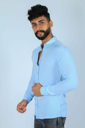 JİYAN Erkek Mavi Gömlek 1