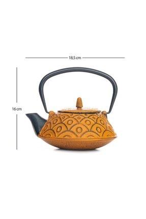 Beta Tea Ba3014 Cast Iron Teapot-demir Döküm Demlik Yellow 800 Ml 1